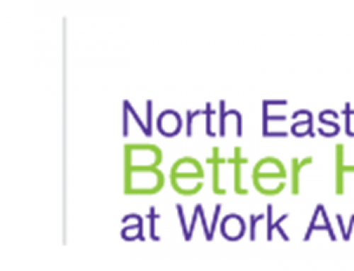 Amber joins North East Better Health at Work Awards.